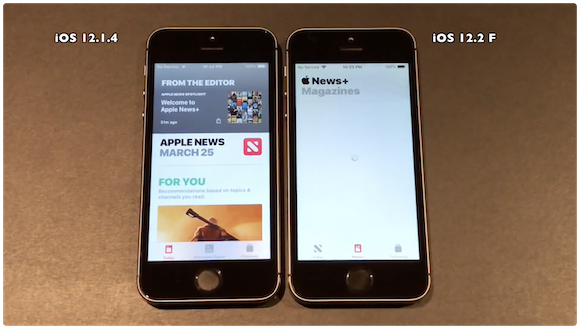 iPhone5s iOS12.2 iAppleBytes 動作速度比較