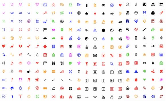 全242種類のドコモ絵文字