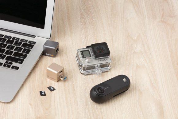 Qubii ProをMicro SDカードリーダーとしても使用可能
