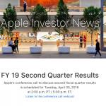 2019Q2 業績発表 Apple