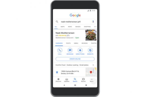 Googleのフードデリバリーサービス機能1