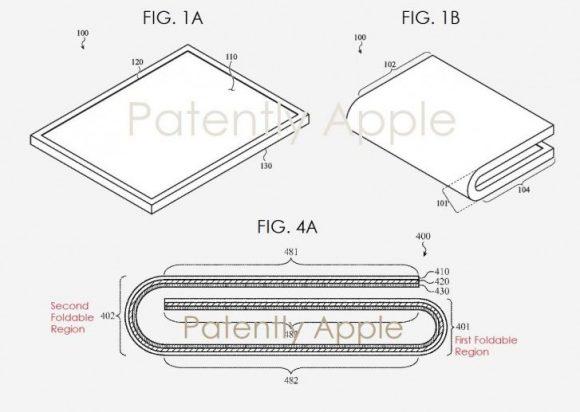 iphone 特許 apple 折りたたみ