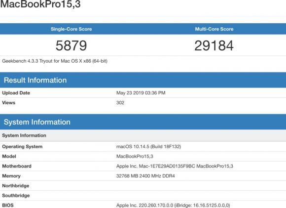 macbookprobenchmark2019