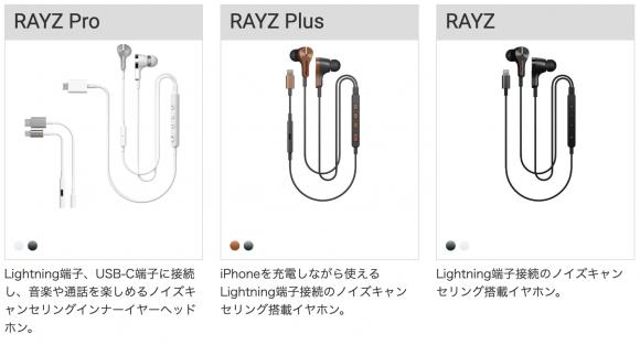 Pioneer RAYZシリーズのイヤホン