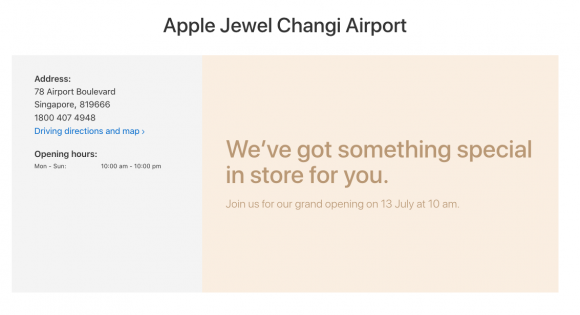 Apple Jewel Changi Airport