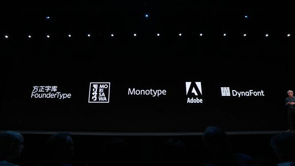 Apple WWDC 19 フォント