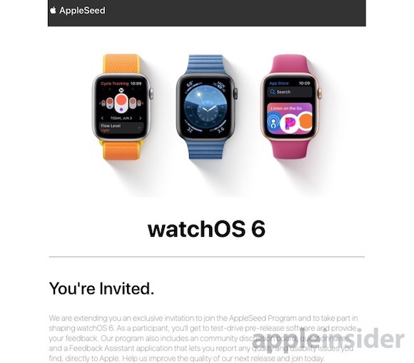 watchOS 6 AppleSeed AppleInsider