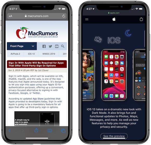 iOS13 ダークモード MacRumors