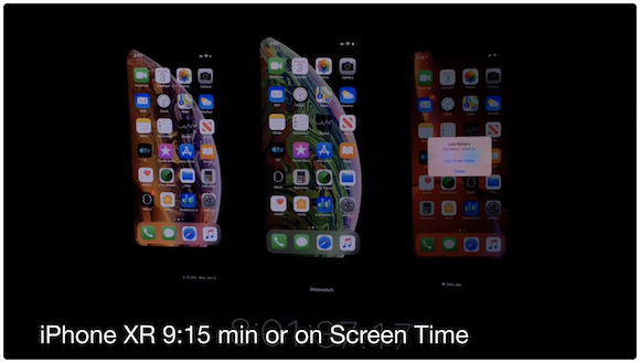 iOS12.4 バッテリー持続時間 比較テスト