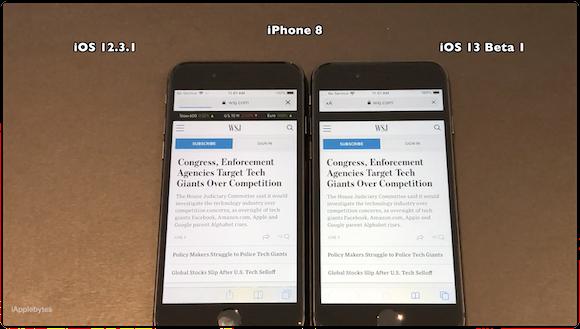 iPhone8 iOS13スピードテスト iAppleBytes