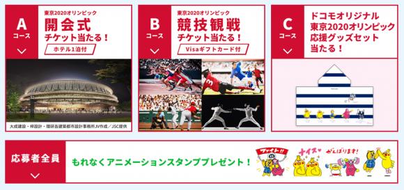 ドコモ 東京2020オリンピック 応援に行こう!キャンペーン2
