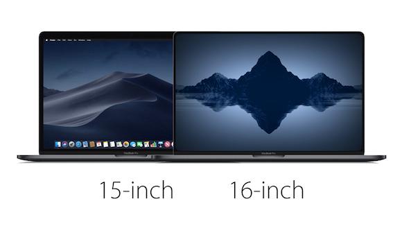 MacBook Pro 15インチ 16インチ 比較 MacRumors
