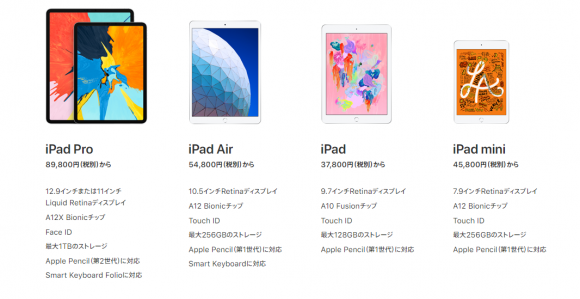 ipad シリーズ apple