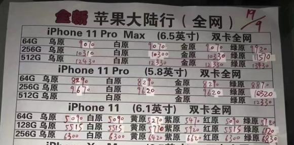 iphone11 中国 転売 価格