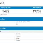 ios12,3 iphone11 pro ベンチマークスコア geekbench 4