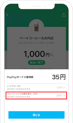 PayPay 「キャッシュレス・消費者還元事業」