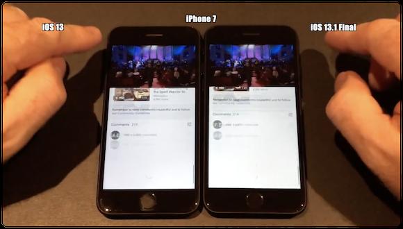 iOS13 iOS13.1 スピードテストiAppleBytes iPhone7