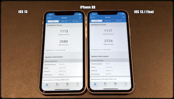 iOS13 iOS13.1 スピードテストiAppleBytes iPhoneXR