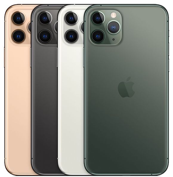 Apple iPhone11 Pro 4色