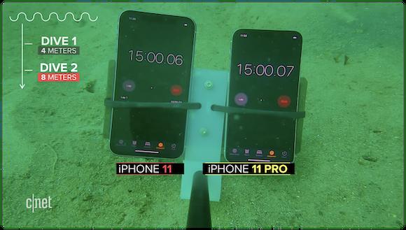 CNET iPhone11 耐水性能テスト
