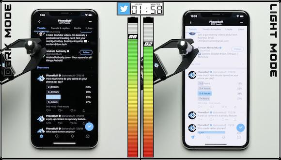 ダークモード 比較 PhoneBuff/YouTube