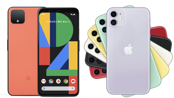 Pixel 4 iPhone11