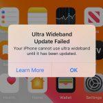 iOS13 超広帯域無線(UWB)のアップデートに失敗