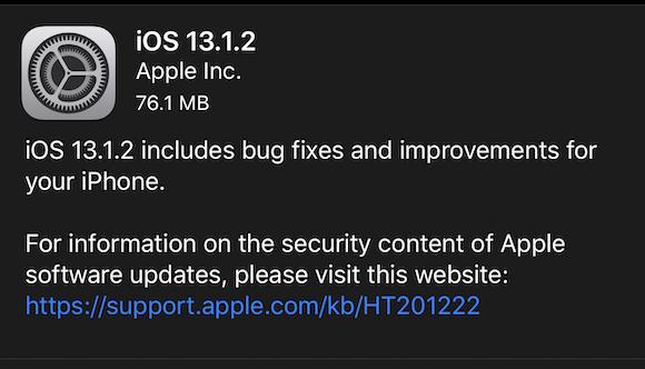 iOS13.1.2