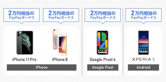 のりかえPayPayキャンペーンにiPhone11シリーズが追加