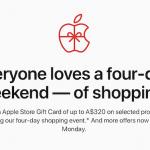 Apple オーストラリア ブラックフライデー