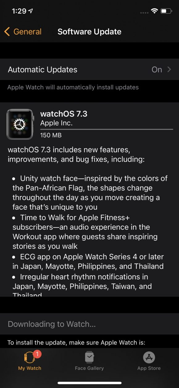 watchOS7.3 RC