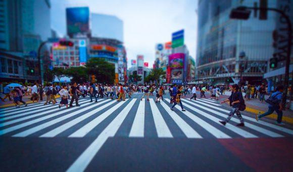 チルトシフトで撮影した渋谷の画像