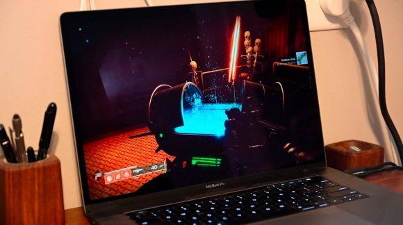 Macでゲームをプレイする画像
