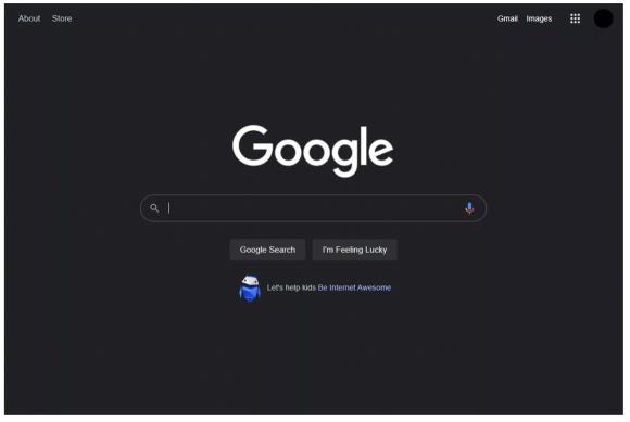 Google ダークモード