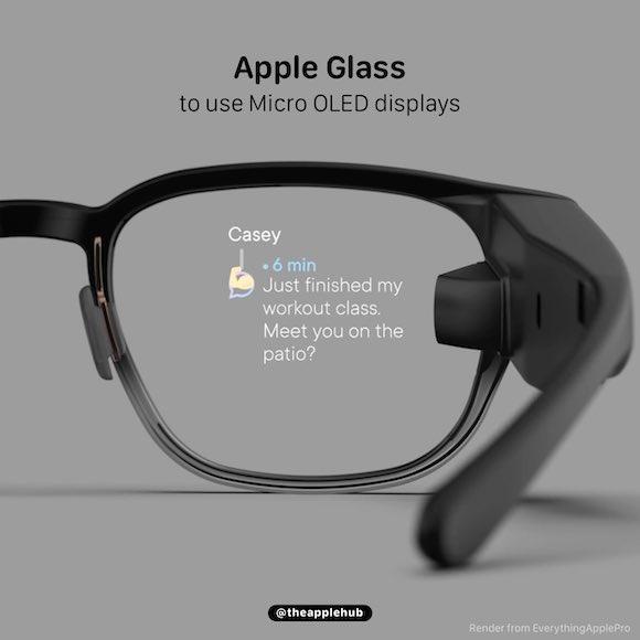 Micro OLED Apple Glass