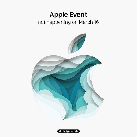 No apple event on march2021
