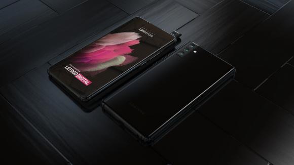 Samsungの回転式ポップアップカメラの画像