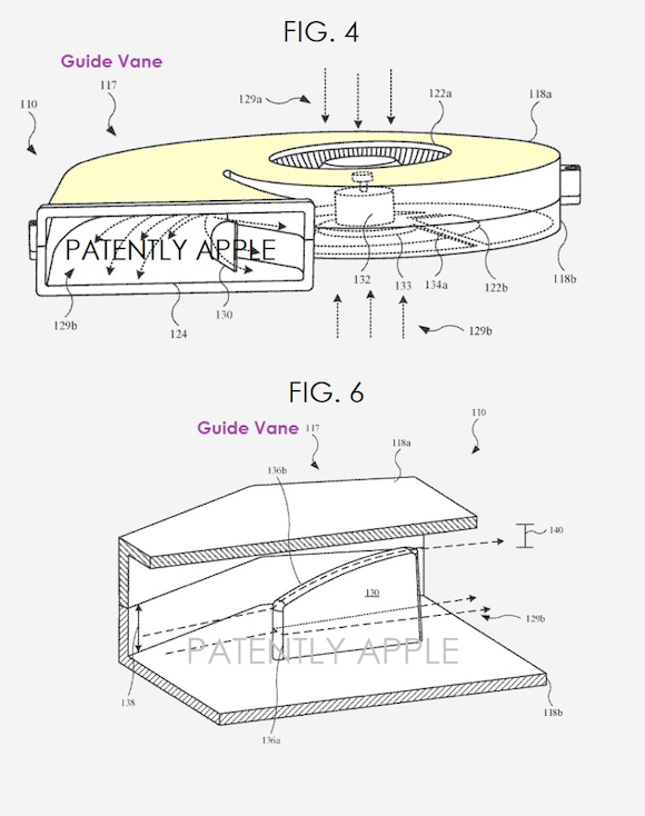 apple cooling fan patent