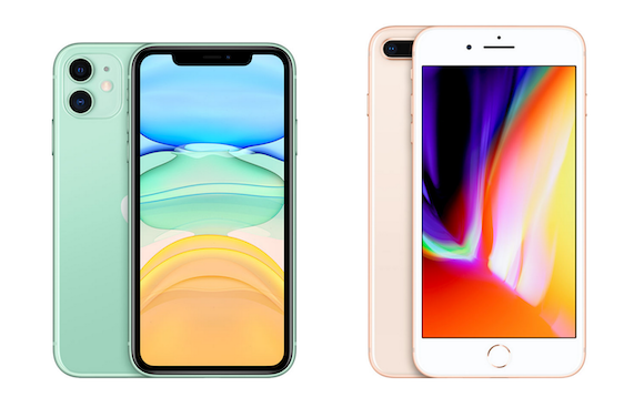 iPhone8 Plus and iPhone11