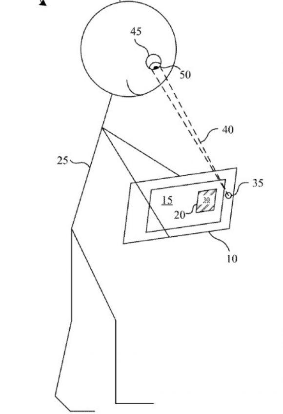 Appleの瞳孔反応によってコンテンツへの集中度合いを測定する特許の図