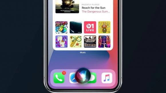 Siriを使っているスクリーンショットの画像