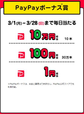 PayPayくじ PayPayボーナス賞