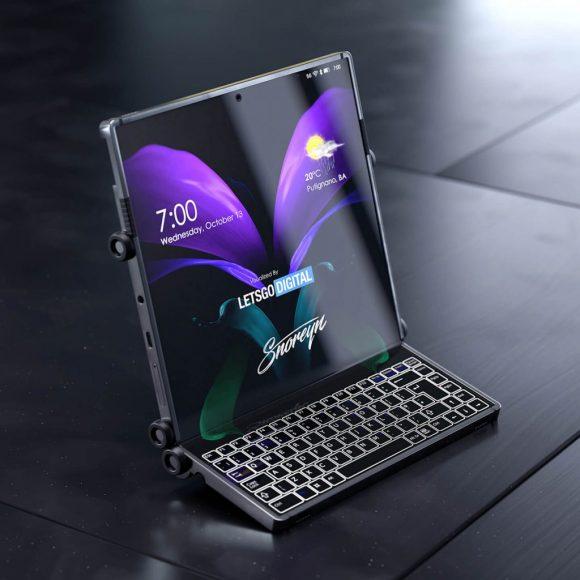Samsungの3つ折りスマートフォンの画像3