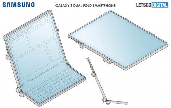Samsungの3つ折りスマートフォンの画像2