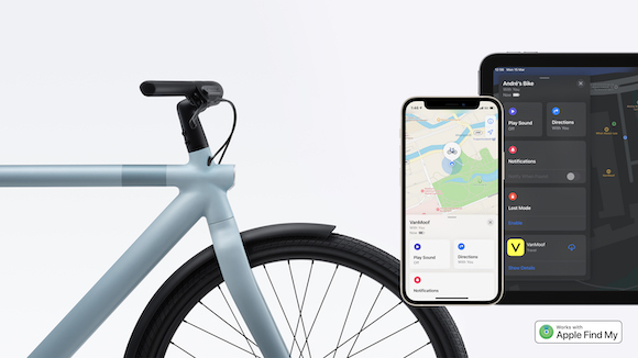 VanMoof 電動自転車「探す」対応