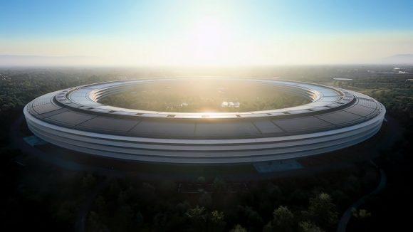 Appleの本社ビルの画像