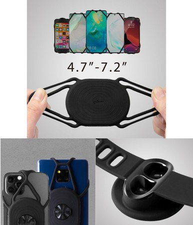 「Bone Bike Tie Connect Kit」と「Bone Run Tie Connect」-スマホホルダー