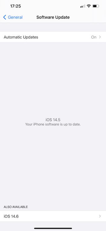 iOS14.6 beta1