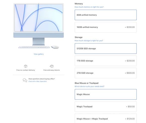 Apple iMac BTO