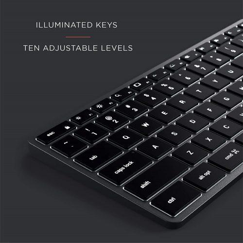 スリム X3 テンキー付き Bluetooth バックライトキーボード-2